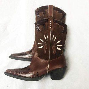 Vaneli Women's Jeska Dark Tan Casual Calf Boot